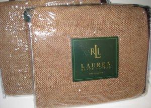 New $175 Ralph Lauren Brittany Tweed Wool King Sham