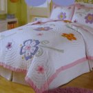 That's mine Girls Huge Flower full/queen Quilt Sheet Set 5pc New