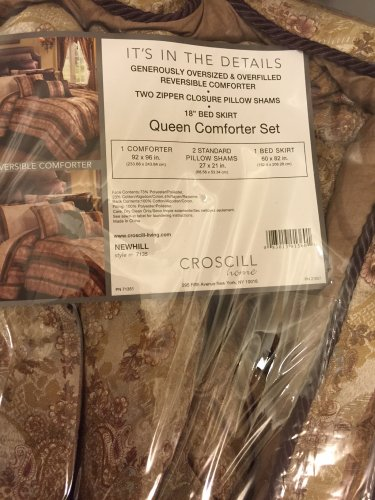 Croscill Newhill Queen COMFORTER SHAMs SET $290 New