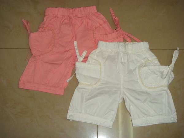 White Pants with Ribbon Size 11