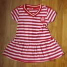 134 Red Strip Dress Size 5