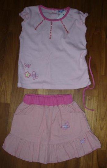 150 Sweet Girl 2 piece set ( Pink- Size 24 mths)