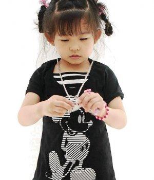 J1182 Mickey Mouse Cute Black Dress