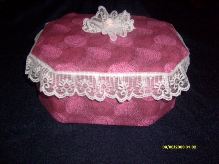 Handmade Queen Fabric Keepsake Trinket box