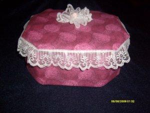 Handmade Queen Fabric Keepsake Trinket box