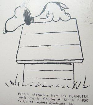 1950 Schulz Charlie Brown Peanuts Magnetic Bulletin Board