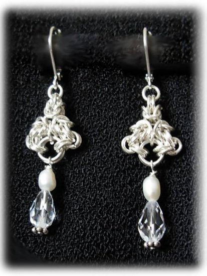 Bridal Jewelry- Genuine Swarovski & pearl earrings