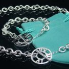 925 Sterling Silver Rome Number Necklace&Bracelet