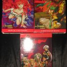 Lot 3 Record of Lodoss War Videos VHS Chronicles of the Heroic Knight FREE US SHIPPING