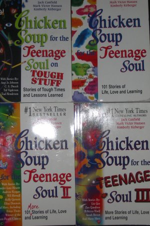 Lot 4 Chicken Soup for the Teenage Soul I, II, II and Tough Stuff SC FREE US SHIPPING