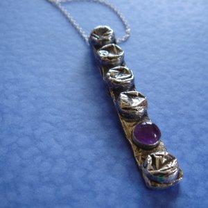 sterling silver bubblewrap necklace