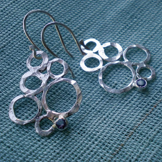 sterling bubble earrings