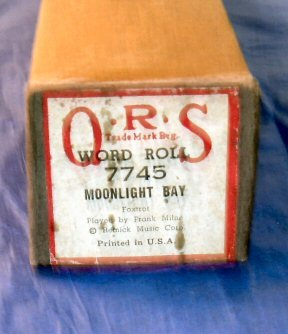 #7745 Moonlight Bay QRS Word Roll Frank Milne