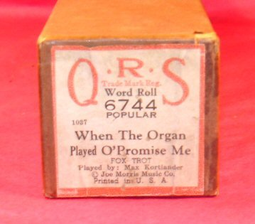 #6744 When the Organ Played O'Promise Me QRS Word Roll Kortlander