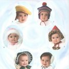 3537 Simplicity Sewing Pattern Infants & Toddlers Hats 6 Style & 4 Sizes XS-L