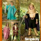 Simplicity 4944 Kids Medieval Princess / Fairy Dress PATTERN Knight Costume SZ 3-8