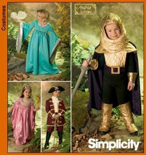 Simplicity 4944 Kids Medieval Princess / Fairy Dress PATTERN Knight Costume SZ 3-8