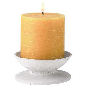 Rustic Pedestal Candle Set
