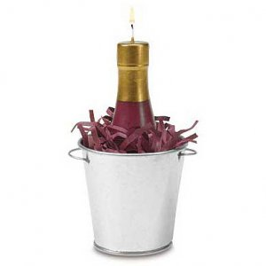 Wine Bottle Bucket Candle