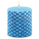 Island Blue Basketweave Candle