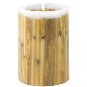 Wood Inlay Candle