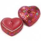 Beaded Heart Candle