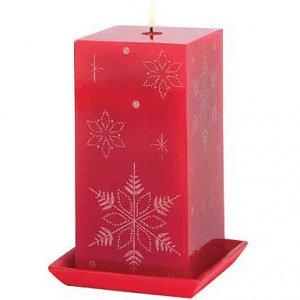 Jeweled Snowflake Candle
