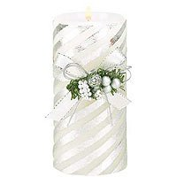 Silver Stripes Candle