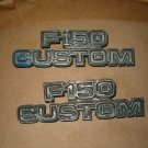 F150 CUSTOM  EMBLEMS 1973 - 1979  LEFT AND RIGHT