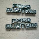 Ford 77-79  F250 CUSTOM emblems