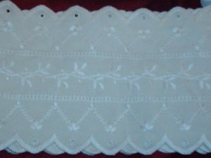 TRIM EYELET LACE COTTON