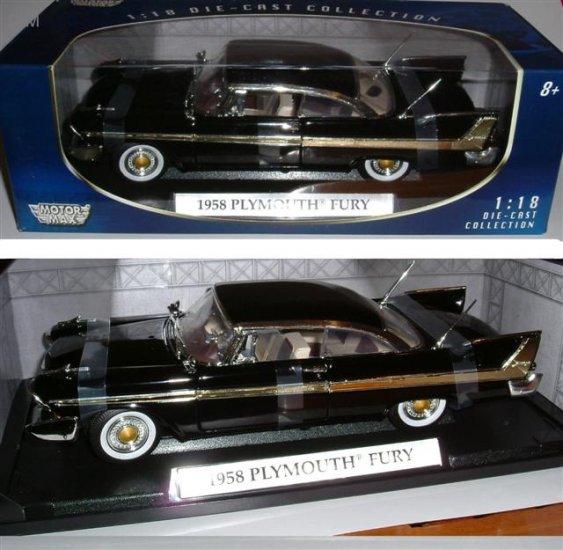 """""""1958 Plymouth Fury""""  Black 1:18"""