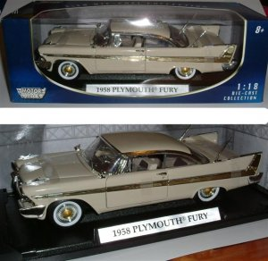 """1958 Plymouth Fury""  Beige Colour 1:18"
