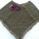 Vintage Angora Shawl Poncho Pull Over Crochet Olive Green Retro Clothing Women