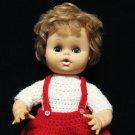 Eegee Girl Baby Doll Rare Hong Kong 13 Inch Sleepy Eyes Blue Blonde Hair