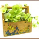Vintage Wood Planter Card Holder Holly Hobby Retro Display Collectible