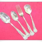 Vintage Flatware Rogers Oneida Godetia Teaspoon Serving Spoons 13 Pc Fork