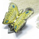 Brass Butterfly Letter Holder Clip Vintage Retro Modern Home Office Decor Yellow Black Turquoise