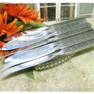 Isabella Stainless Steel Steak Knives Oneida Betty Crocker Set 7 Serrated Retro Flower