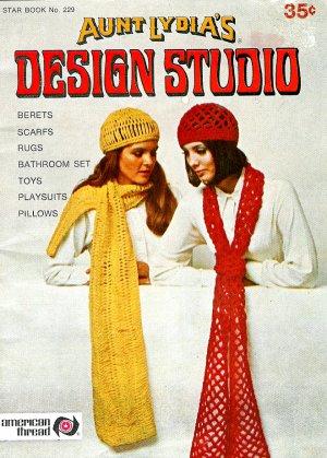 Vintage Crochet Pattern Book Designs Retro Mod Star Owl Pillow Throw Poncho Scarf Beret 60's