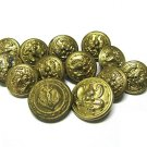 Button Lot Vintage Military Brass Style American Eagle Anchor Suit Decor Craft