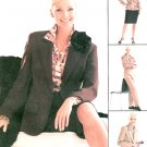McCall's Plus Wardrobe Sewing Pattern Lined Jacket Skirt Shirt Pant 3407