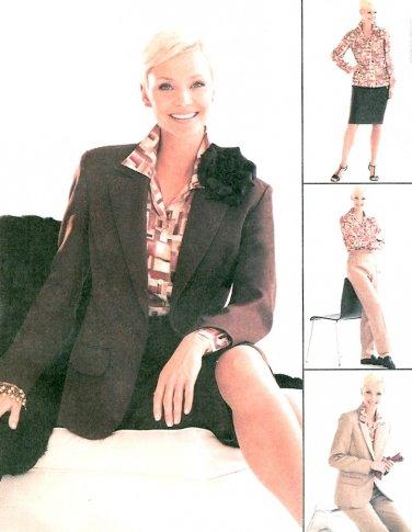 McCall's Plus Wardrobe Sewing Pattern Lined Jacket Skirt Shirt Pant 3407