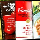 Vintage Cook Books Recipes Dishes Desserts Hunts Campbells Lipton