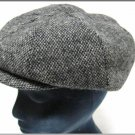 Vintage Newsboy Cap Hats Of Ireland Wood Tweed Gatsby Cabbie Eight Gore Medium