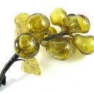 Vintage Cluster Fruit Fig Pear Handblown Murano Glass Amber Gold Retro Home Decor