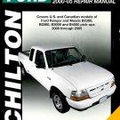 Ford Ranger Pick-Ups 2000-05 Repair Manual Book Chilton Mazda B2300
