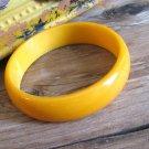 Butterscotch Yellow Bakelite Bangle Bracelet Vintage Retro Fashion Jewelry Wide