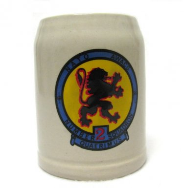 Quaerimus Squadron 2 NATO AWACS Beer Stein Vintage Mug Collectible Military Germany Lion 20 Oz