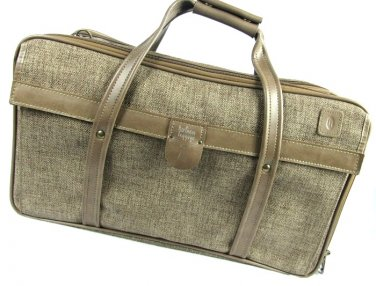 Hartmann Tweed Carry On Suitcase Vintage Luggage Brown Tan Retro Bag Expandable Lock Key